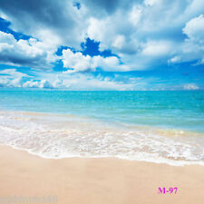 Sunny Beach CP vinyl Backdrop Photography background Studio Photo Prop 5X7FT M97