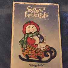 Longaberger  1998 Sleigh Belle Cookie Mold with a Snowman at the  reigns