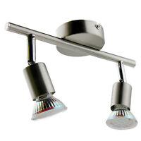 LED Deckenlampe GU10 Spots Strahler Wandlampe Deckenleuchte Lampe 2-flammig Neu