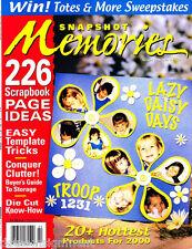 Snapshot Memories Magazine 226 Scrapbook Page Ideas Templates & More