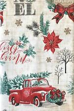 NWT Christmas Holiday Truck 52-Inch x 70-Inch Oblong Vinyl Tablecloth