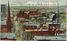 Providence Bird's Eye View Up Westminster Street 1910 RI