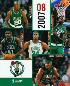 Boston Celtics 2007-08 Team Ray Allen Kevin Garnett Paul Pierce 8x10 Photo
