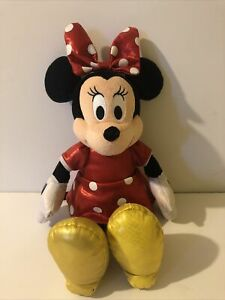 """Disney Ty Minnie Mouse Sparkle Red 12"""" Pre Loved….but Lots Of Love Left…clean"""