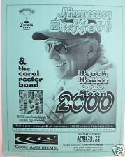 "Jimmy Buffett 2000 ""Beach House On Moon Tour"" San Diego Concert Poster"