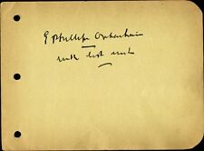 Vintage E. PHILLIPS OPPENHEIM Autograph - Mystery Writer
