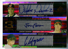 2004 SP Prospects VICTOR MARTINEZ JEREMY SOWERS RC Link to Future Triple Auto 50
