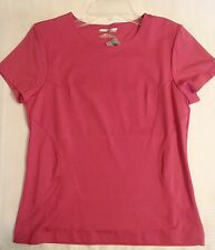 Jockey Sport Athletic Medium Short Sleeve Pink Shirt NWT