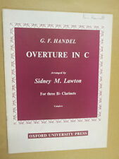 clarinet HANDEL Overture in C, sidney M Lawton