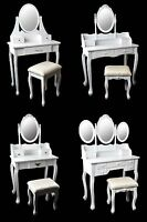 Make-up table Vanity Makeup Table with mirror & Stool Vintage Shabby Chic
