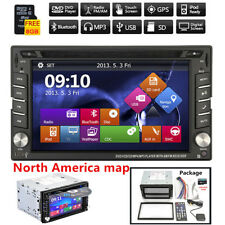 "6.2"" 2 DIN DVD/CD Player GPS Bluetooth HD Radio iPod + (North America) Map Card"