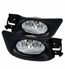 CHROME CLEAR BUMPER FOG LIGHTS LAMPS+SWITCH KIT PT 2003-2005 HONDA ACCORD 4D/4DR