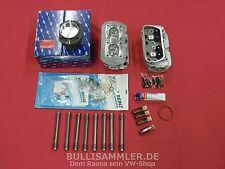 VW Käfer T1 T2 Bus Typ1 1600 ccm SET Bleifrei Kolben PREMIUM-Zylinderköpfe