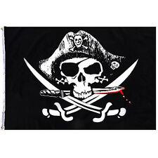 90*150cm Piraten Stoffdruck Flagge Schädel Banner Innen Halloween Fahne Zierde