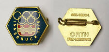 OLYMPIC 1976 INNSBRUCK  9th Olympic Winter Games - Official Logo pin brooch ORTH