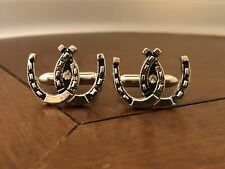 Double Horseshoes Cufflinks Mens Vintage Swank