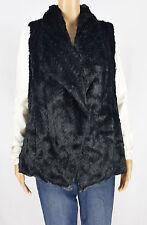 Wildflower Womens Black Faux Fur Vest Jacket Coat Size M
