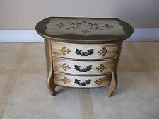 Vintage Jewelry Box Music Box 3 Drawers made in Japan
