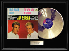 Jan & Dean Dead Man'S Curve Album Framed Lp Gold Metalized Record Non Riaa Award