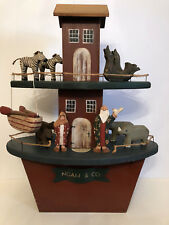 "Vintage Wood Two Story Noah's Ark.    24 1/2"" tall.    Signed Ginger & Pickles."