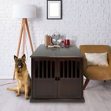 Extra Large Pet Dog Cat Crate Kennel End Table Cage Wood Furniture House Locking
