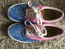 RARE Vans Crayola Era Size 6.5 Pink Blue