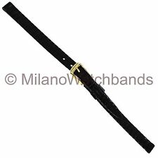 7mm Downing Black Genuine Lizard Ladies Watch Band Made in Italy