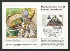 BUND MK 1987 PAPST-BESUCH GELSENKIRCHEN MAXIMUMKARTE POPE MAXIMUM CARD MC m63