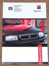 1993-98 DAIHATSU APPLAUSE Sales Brochure UK Market