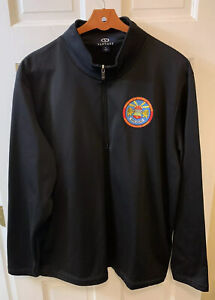 United States European Command Headquarters Men XL 1/4 Zip Pullover Black Army