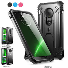 Moto G7 / G7 Plus ,Poetic [Dual Layer] Shockproof Hard Shell Case Cover