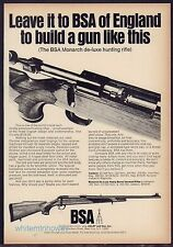 1971 BSA Monarch De-luxe Hunting Rifle Ad Advertising