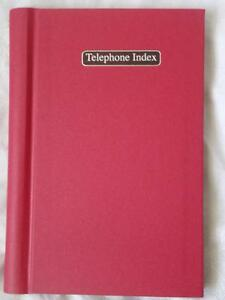 RED ALPHABET TELEPHONE INDEX ADDRESS BOOK - HARDBACK - BRAND NEW