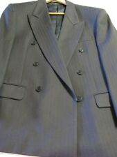 40 Issimo Mens Wool Double Breasted Blazer Sport Coat Jacket Blk (Italy) EUR 50