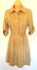 Tory Burch Shirt Dress 2 Khaki Tan Beige Safari Addyson Button Belt Was $350 NWT