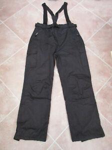 George - Unisex Black Padded Ski Salopettes - size M