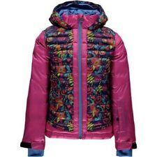 Spyder Girls Nora Hooded Down Jacket,Ski Snowboarding Jacket,Size XL(16/18 Kids)