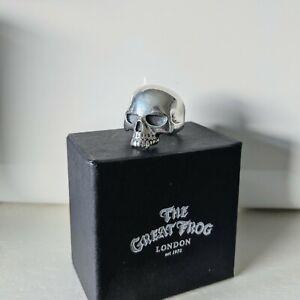 The Great Frog Medium Evil Skull Ring - 925 Silver - In Original Box & Bag