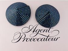 AGENT PROVOCATEUR SWAROVSKI CRYSTAL LEATHER CONSTANCE NIPPLE  PASTIES