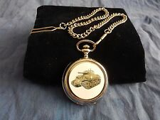 AMERICAN SHERMAN TANK CHROME POCKET WATCH WITH CHAIN (NEW)  (3)
