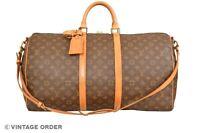 Louis Vuitton Monogram Keepall 55 Bandouliere Travel Bag Strap M41414 - YG00841