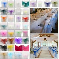 Organza Sash Chair Cover Wider Fuller Bows for Wedding Party Decor 17cm X 280cm
