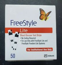 50 FreeStyle Lite Diabetic Test Strips 1 box 50ct exp 8/31/2021