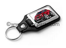 WickedKarz Cartoon Car Vauxhall Mokka Mini SUV in Dark Red Key Ring