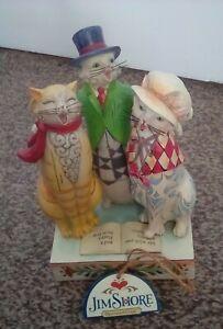 Jim Shore Heartwood Creek. Caroling Cats. Boxed, never displayed