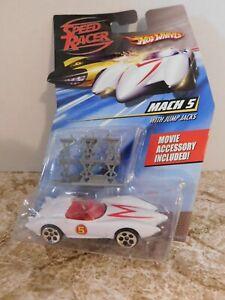 SPEED RACER HOT WHEELS MACH 5 WITH JUMP JACKS 1:64 DIE CAST  2007 NEW