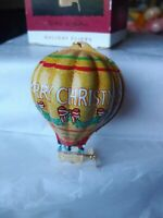 Hallmark Keepsake 1993 Ornament Tin Hot Air Balloon Holiday Fliers with Box