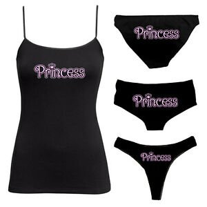 Princess Knickers & Camisole Set - BDSM Vest Twin Set - Thong, Boy Shorts 126