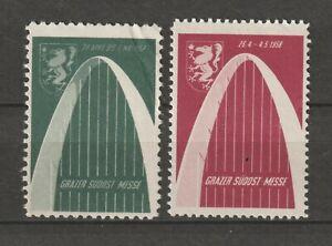 Austria Poster Stamp Reklamemarke Seal Exhibition Grazer Südost Messe 1957 1958