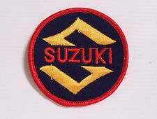 SUZUKI MOTORCYLES EMBROIDERED PATCH ROUND BIKER WOVEN CLOTH BADGE SEW-ON RACING